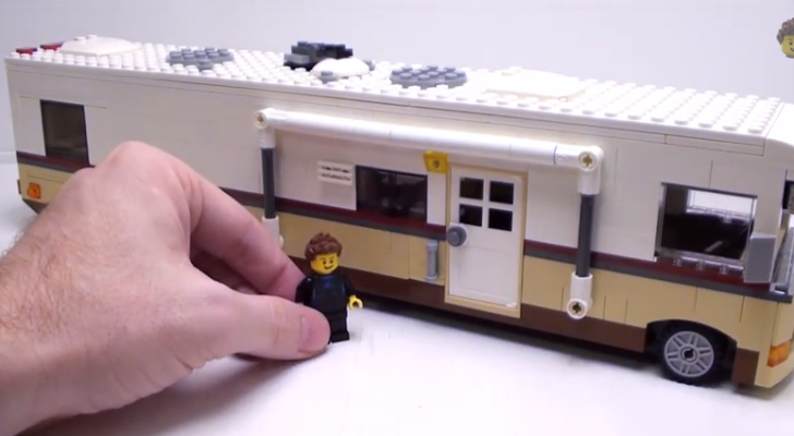 This Man Made A Class A Motorhome Out Of LEGOs. It's Even Got Two Slide Outs.