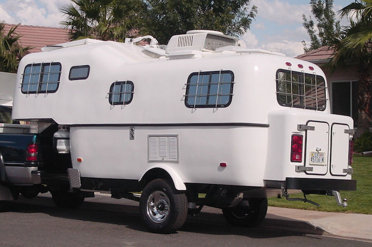 outside of a custom scamp 5th wheel trailer