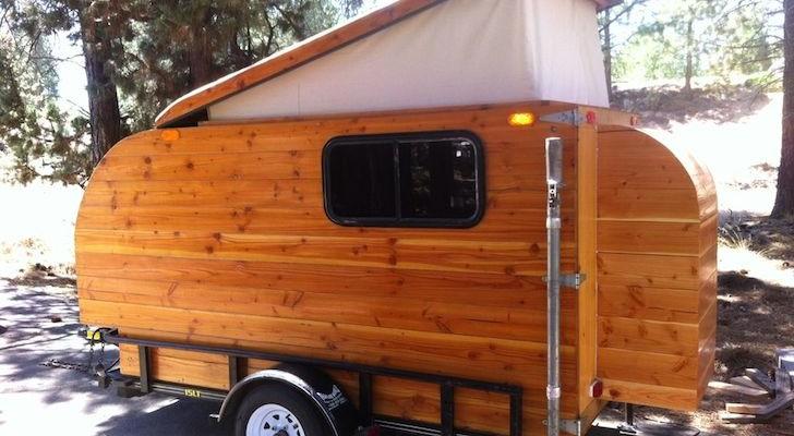 Here Is A Self-Made Pop-Up Camper Built From Douglas Fir