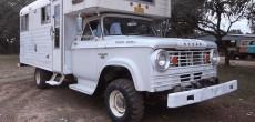 Rare 1966 Dodge Power Wagon W300 Chinook Truck Camper
