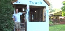 This 16-Year-Old Built A Tiny House On Wheels In His Parents Backyard