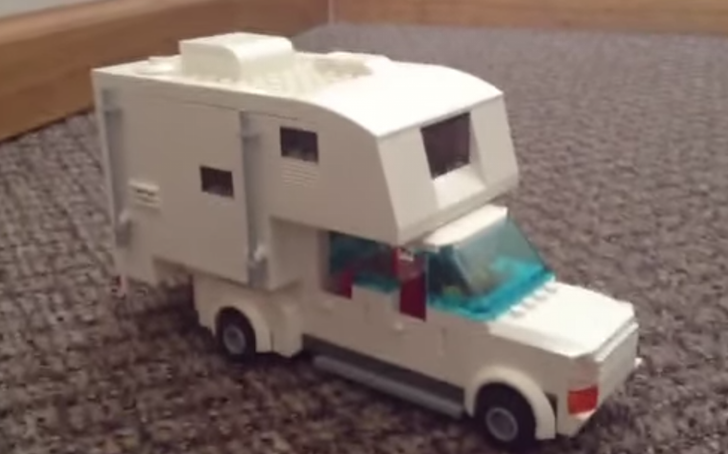 Highly Detailed And Life Like Truck Camper Made From LEGOs