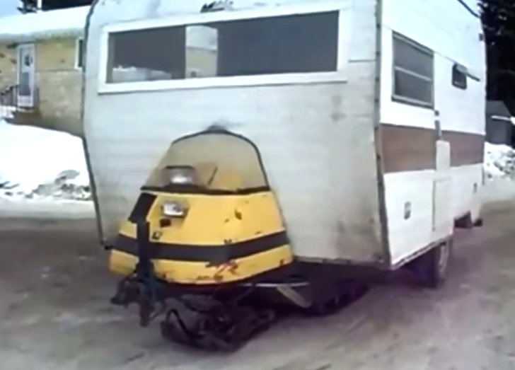 The Diy Snowmobile Camper These Canadians Made Is Crazy
