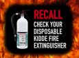 Major Recall Of Kidde Disposable Fire Extinguishers Commonly Found In RVs