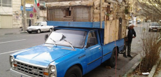 This Man Parks His DIY Truck Camper In The Heart Of Tehran, Iran