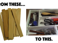 DIY Bargain Drawer Organizer Made From Wooden Paint Stir Sticks Costs Almost Nothing