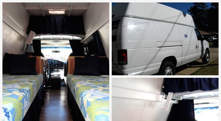 Woman Makes Small RV From Second Hand Cargo Van