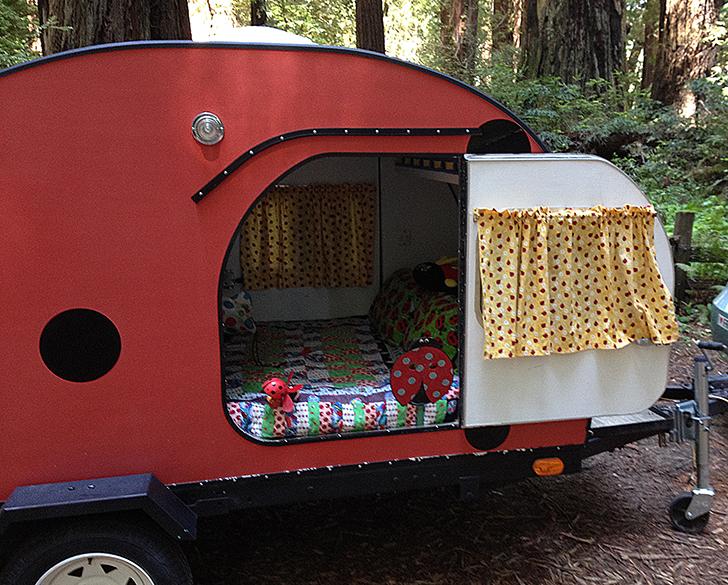 """Ladybug"" Teardrop Trailer Ladybug-teadrop-trailer-LydiaMcElroy"