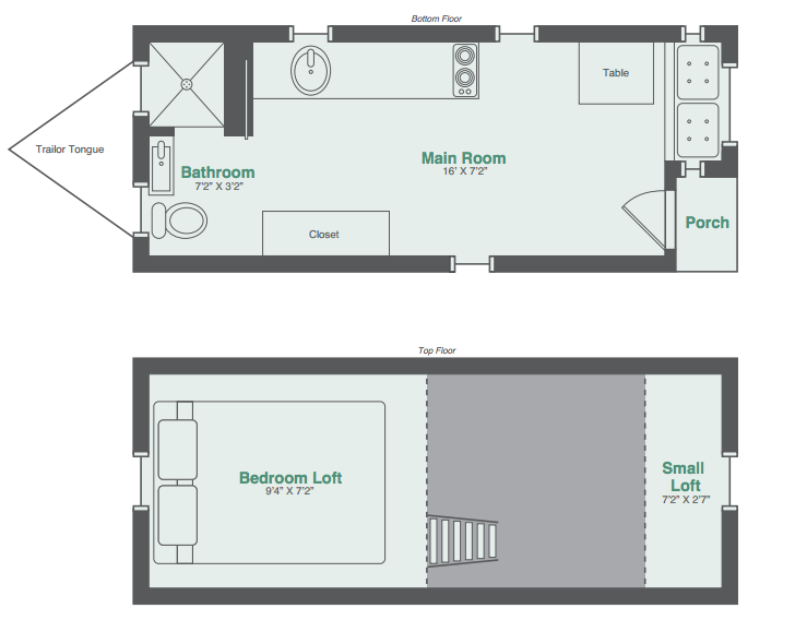 Monarch tiny house floor plan