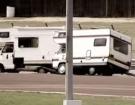 Crazy Britons Race Motorhomes Around A Dirt Track