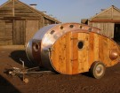 This Steampunk Teardrop Trailer is Made From Recycled Materials