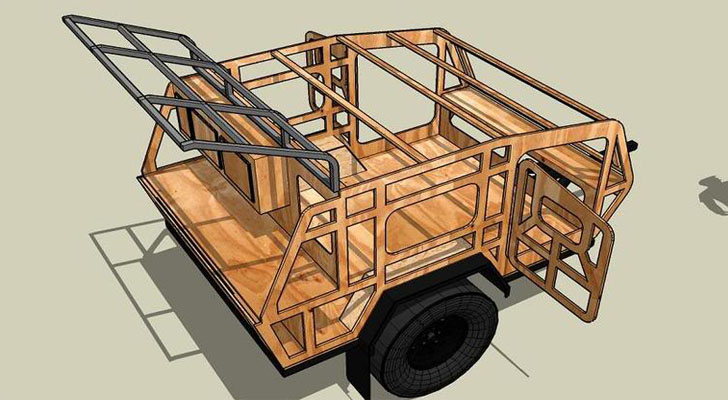teardrop camper trailer plans how to build