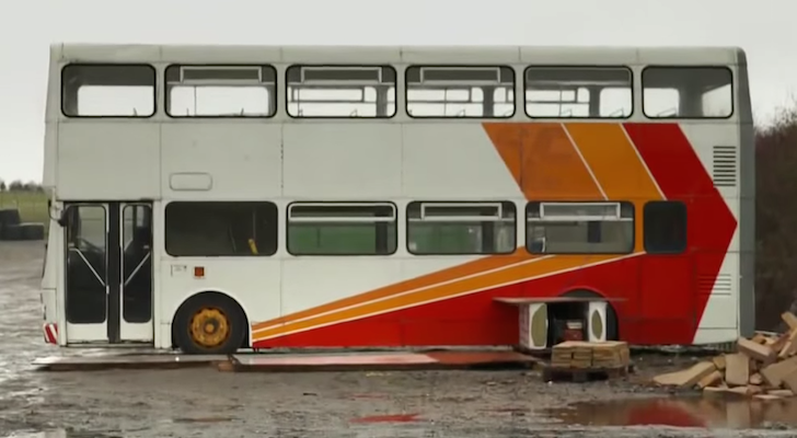 Amazing Dad Builds Clever Double Decker Bus RV – Wait Till You See The Inside
