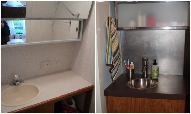 an rv bathroom remodel for under 100 yes it 39 s possible