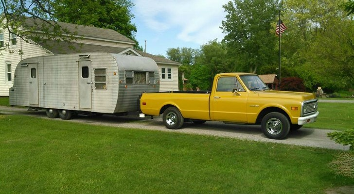 This Vintage Truck And Trailer Were Destined For The Scrap Yard, You Have To See Them Now