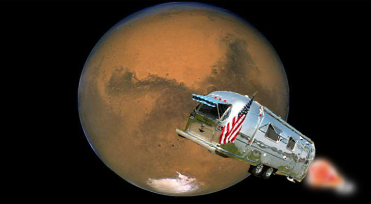 Could the Future of RVs Include Mars? Probabaly Not, But There Is A Mars Simulator Airstream!