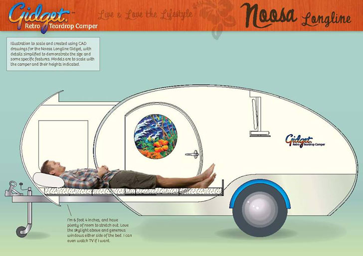Gidget One Of A Kind Retro Inspired Teardrop Camper