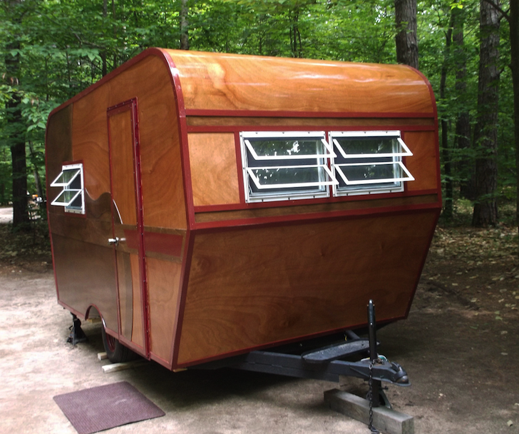 Awesome Wind Up Camper Trailer Rebuild Looking Like New With A Fresh Colour
