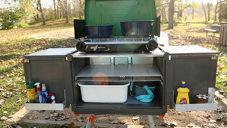 Camp-Caddy-Kitchen-DIYRV Outdoor Camping Kitchens