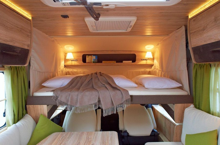 Swiss chalet style motorhome conjures a ski lodge for Mobil chalet