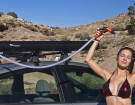 Road Shower: Solar Heated, Pressurized Water on Top of Your Car