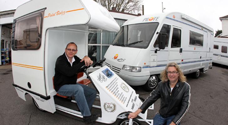 Car Designer Built This Bike Camper From Part Of A Bedford Campervan