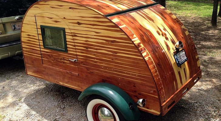 Laminated Cedar Teardrop Trailer Modeled After Those From The 1930s And 1940s