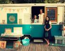 Vintage Apache Ramada Camper Transformed Into A Mobile Art Studio