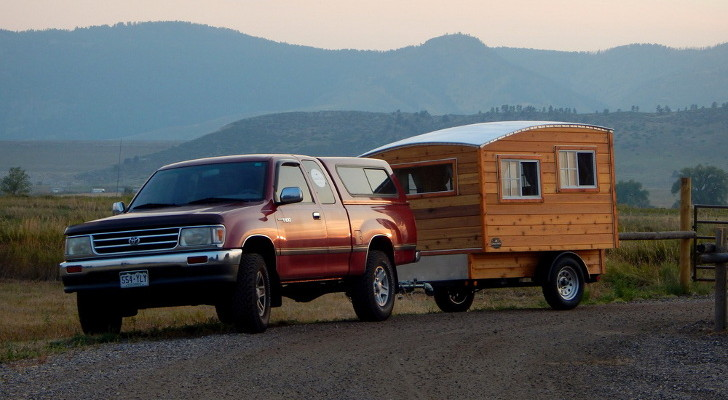 Handmade Wood Camper Is Not Just A Big White Box On Wheels