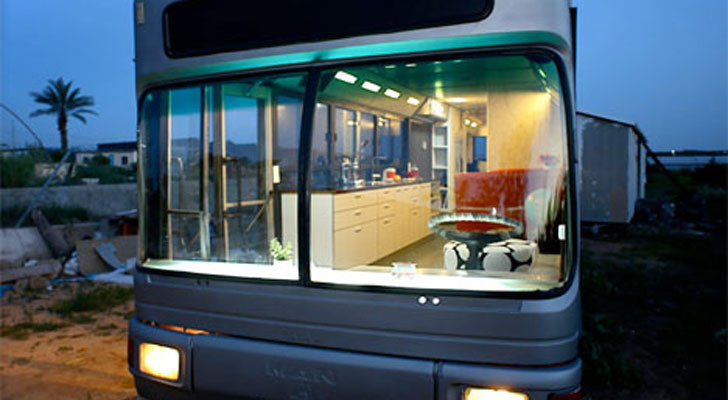 Two Israeli Women Convert An Old Transit Bus Into A Luxury Coach