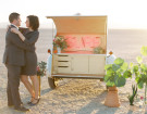 Custom Teardrop Trailer Plays Witness To These Stylish Vegas Weddings