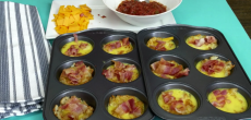 Make Tasty Breakfast Bites From Tater Tots Mashed In A Muffin Tin