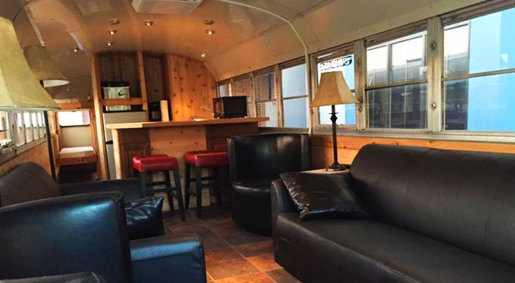 This School Bus Conversion Features An Off-Grid AC