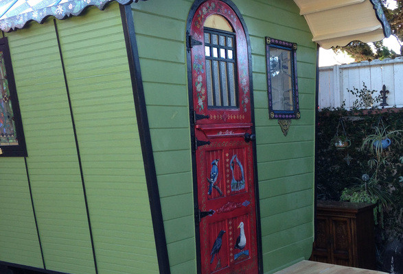 Just Wait Until You See The Hand-Painted Details On This Homemade Vardo