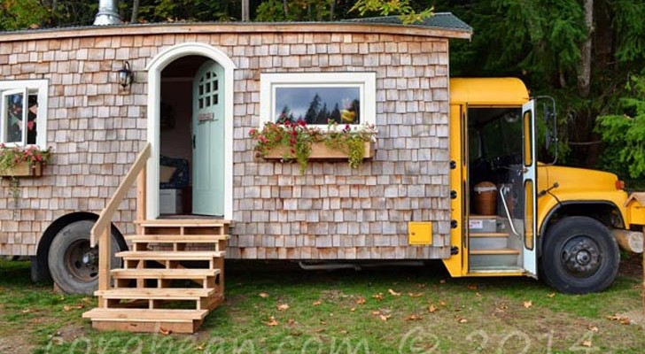 Even If You Are Not A Skoolie Fan You Gotta See This Wood Shingled Bus