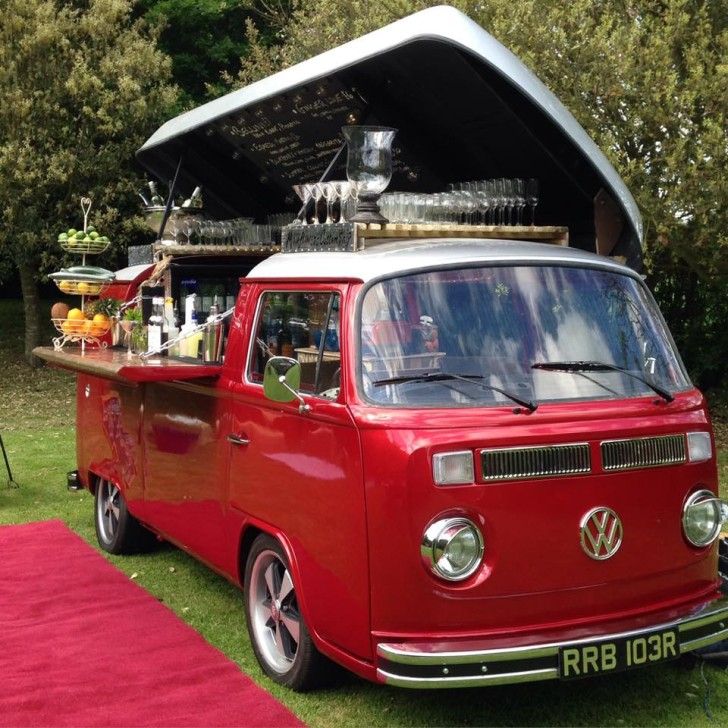 Pop-Top Vintage VW Camper Van Now A Fabulous Bar