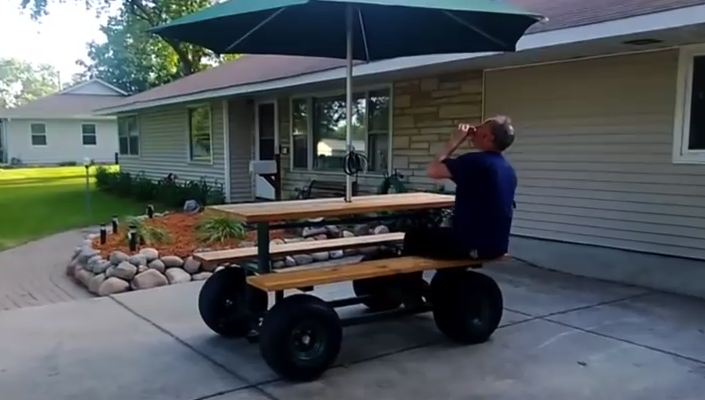 When rv diy goes too far the fifth wheel trailer hitch Motorized table