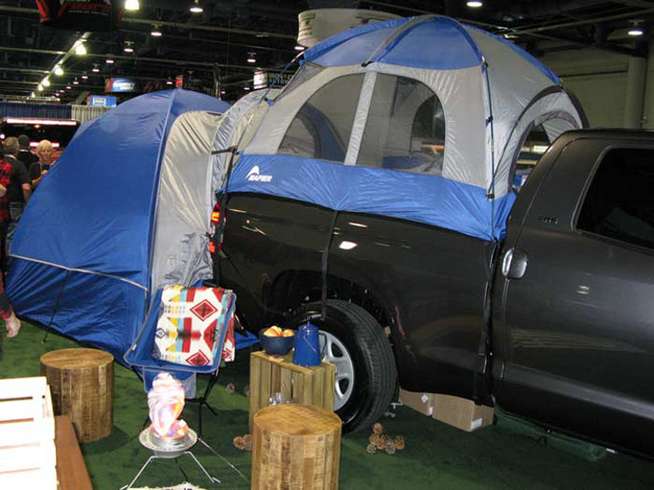 Truck And Car Camping Tent Is A Mobile Motel On Wheels