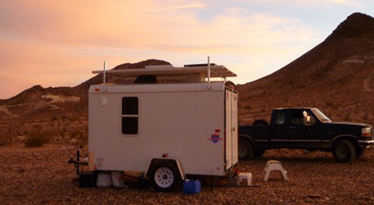Full Time Living In A 6×10 Cargo Trailer Conversion