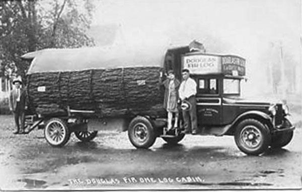 Almost Prehistoric Photos Of A 1920s Douglas Fir Cabin RV Built On A 3 Ton Truck