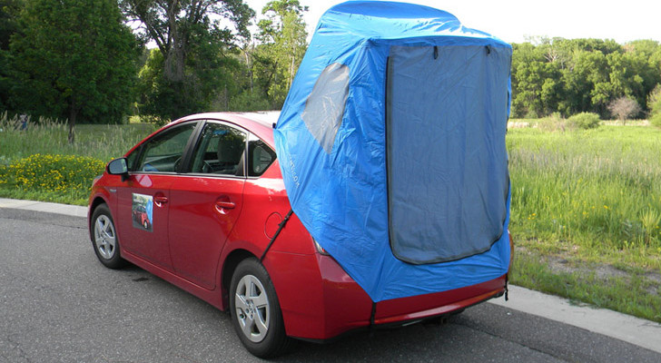 You Can Buy This Tent For A Prius That Fits In The Glove Box