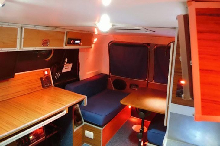 Nondescript Ford Econoline Van Converted To Stealth Office