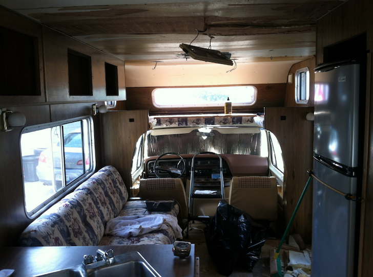 ford brougham rv  tiny house  bus
