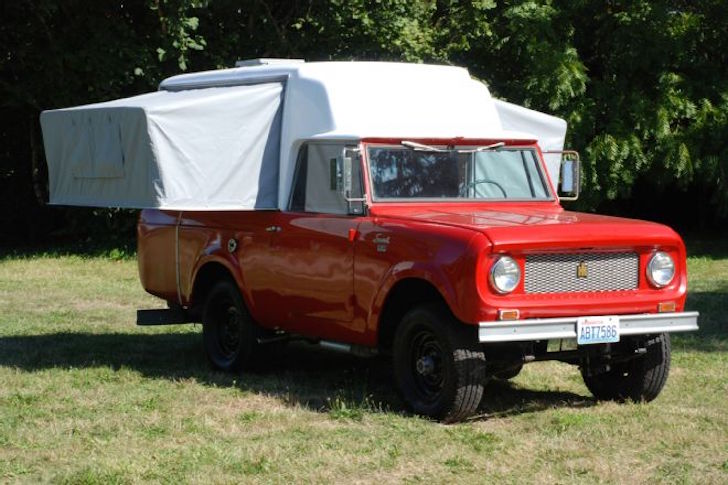 1963 Scout Camper Looks Like A Pop Up Camper Placed Sideways