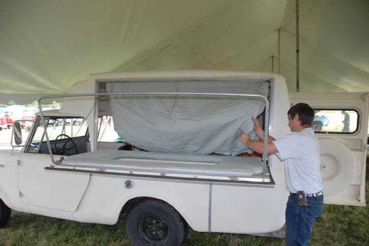 1963 Scout Camper Looks Like A Pop Up Camper Placed Sideways