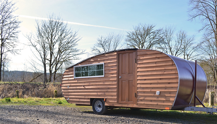 Build This Cozy Cabin Cozy Cabin Magazine Do It Yourself: Wood Sided Wheeled Cabin Channels Pop Up, Teardrop, And Camper