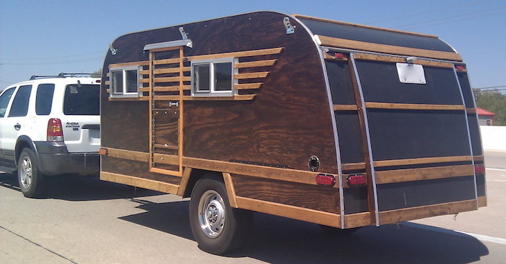 Picture Of The Day Homemade Wood Paneled Camper