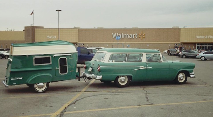 Picture Of The Day: Matching Vintage Trailorboat Camper And Station Wagon