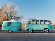 From The Early Days Of Camping: 1963 Volkswagen Type 2 Deluxe Microbus With Eriba Puck Trailer