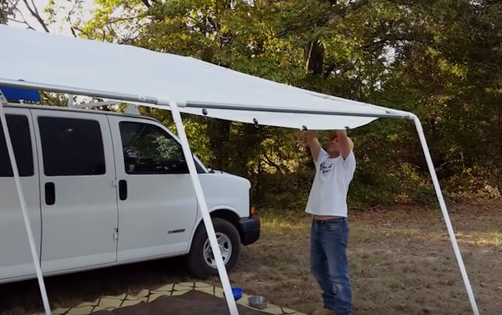 Custom Canopy System For Stealth Camper Van